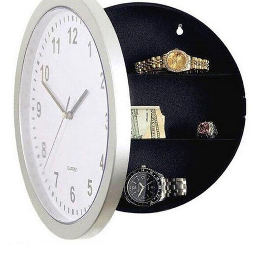 2017 бытовой горячей новизны деньги Jewellery контейнер для хранения Механическая коробка для хранения часы ABS настенные часы денежных Сейф