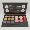 Pro 12 colors Matte eye shadow concealer makeup palette Nude eyeshadow lip gloss blusher kit Earth color Women Facial Cosmetic