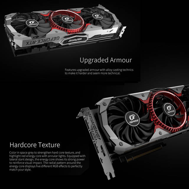 US $1345 99 |Colorful iGame GeForce RTX 2080 Ti Graphic Card Advanced OC  1635MHz GDDR6 11G 1635MHz Craphics Cards GDDR6 11GB For PC Computer-in