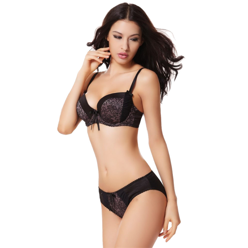 dacdfa7aae9 2018 Big Cup Women Bra and Panty set Push Up Bras Luxury Women Underwear  Sexy Lingerie Underwear large Cup 75D 80D 85D 90D-in Bra   Brief Sets from  ...