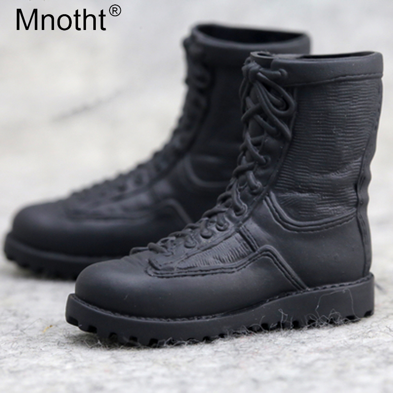 12inch Male Soldier Black Combat Boots 1/6 Scale Soldier Shoes Model Toy Action Figure Accessories mnotht m3