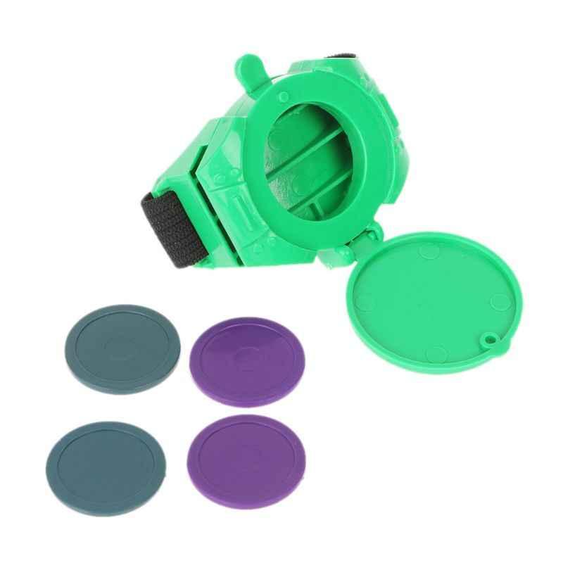 Novedad juguete reloj lanzador UFO disco volador Shooting Watch pulsera juguetes niños fiesta favores gag y bromas prácticas