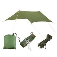 3mx3m Beach Sun Shelter Tarp Waterproof Tent Shade Ultralight UV Garden Awning Canopy Sunshade Camping Hammock