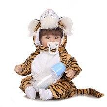 Nový 1pc zbrusu nový malý tygr živý simulovaný společnost znovuzrozený Doll nejlépe spací panenku pro děti pokles dopravy