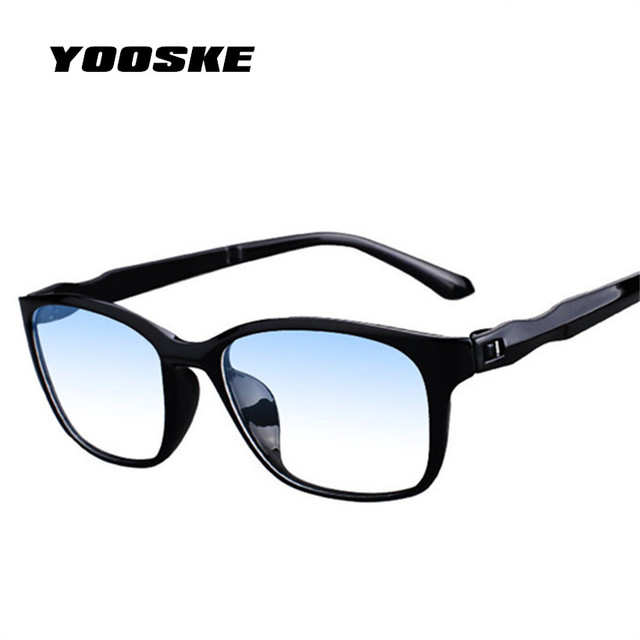 YOOSKE Ultra-light Reading Glasses Women Men Anti blue rays Eyeglasses for Reading Double film Prescription Hyperopia Glasses