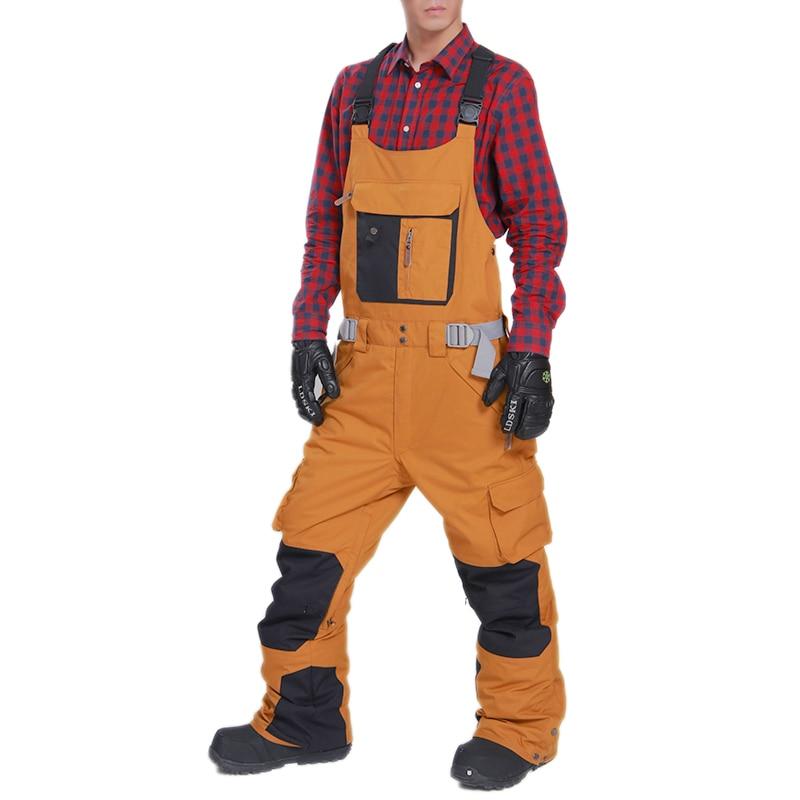 d7780b09c41f LD SKI ski pants with braces women and men skiing trousers ...
