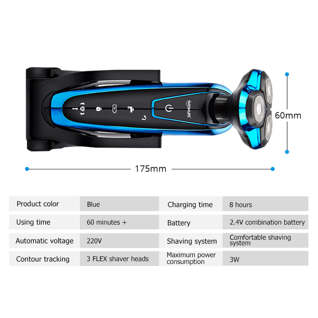 Men Electric Shaver Machine Razor Rechargeable