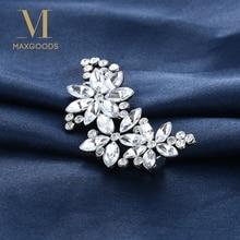 2 шт Модный Блестящий Кристалл цветок лепесток заколка стразы заколка для волос шпилька для свадьбы невесты аксессуары для волос невесты