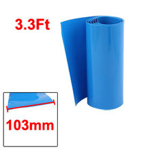 Uxcell Hot Sale 1M/3.3ft 103mm Width PVC Heat Shrink Tubing Blue/Yellow/White/ for 18650 Battery Insulation casing shrink