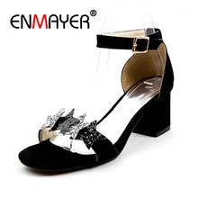 ENMAYER Fashion sequins summer shoes woman 2018 new sandals five-pointed  star Bling open toe women dress party woman shoes CR213 468fd9ef201d