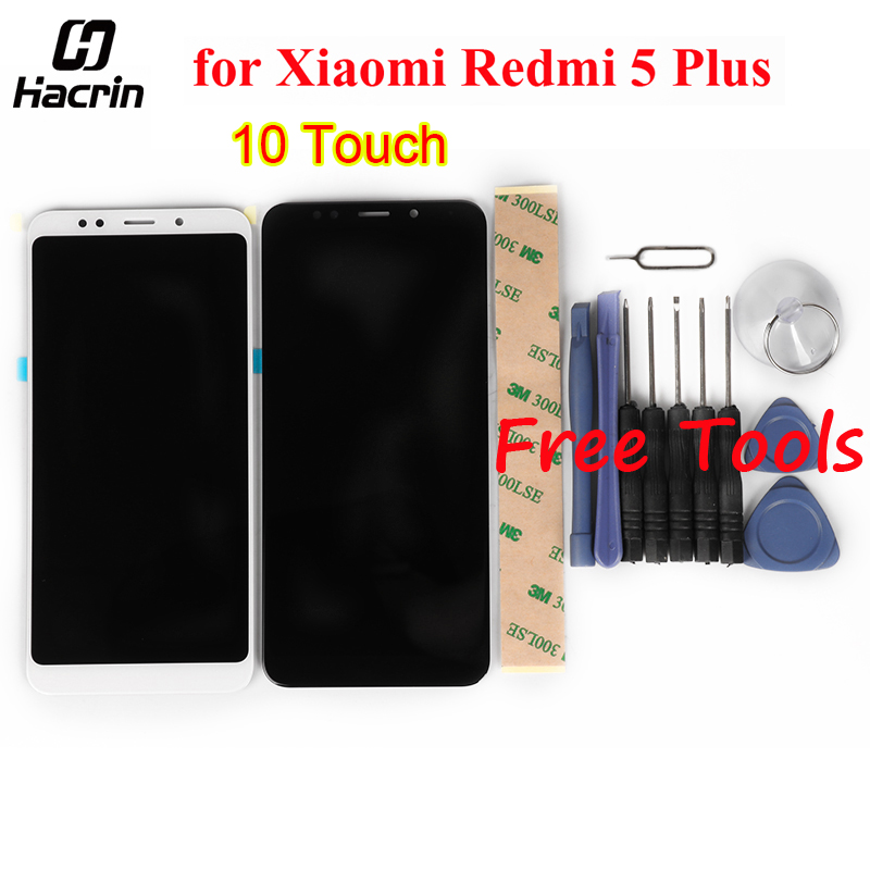 for Xiaomi Redmi 5 Plus LCD Display + Touch Screen Glass Panel Digitizer Assembly Screen Replacement For Redmi 5 Plus 5.99inch