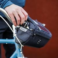 Roswheel Waterproof Bike Handlebar Bag MTB Cycling Handlebar Storage Basket Bag Front Frame Bag Touched Screen Phone Holder