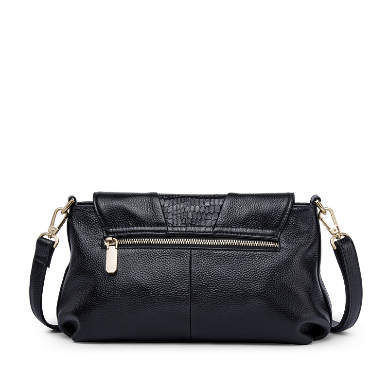 ZOOLER Mode Elegant Lederen vrouwen Handtassen Dames Schoudertassen Zwart Koe Lederen Zachte Crossbody Tas tote # L120 - 3