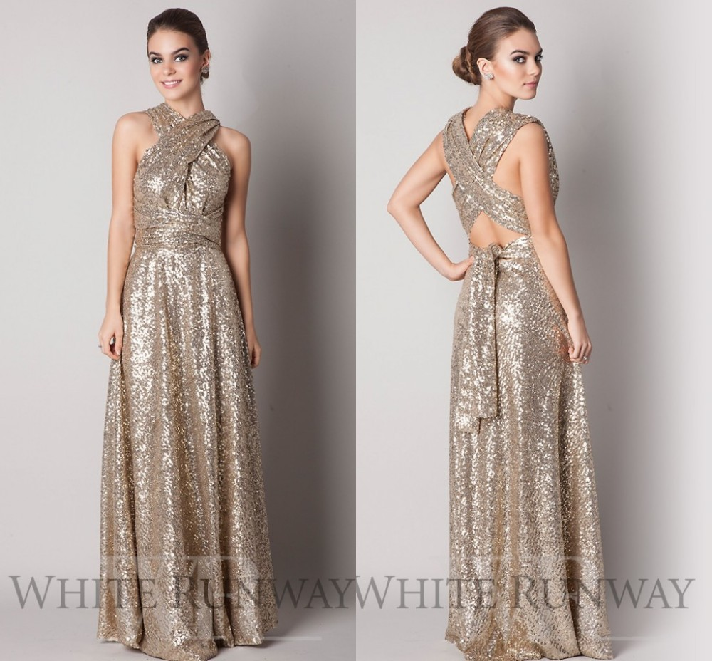 2017 sparkly convertible maid of honor dresses a line long cheap 2017 sparkly convertible maid of honor dresses a line long cheap gold sequins bridesmaid dresses robe demoiselle dhonneur in bridesmaid dresses from ombrellifo Gallery