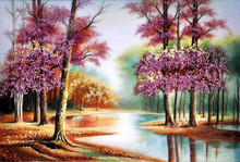 Full diamond embroidery scenic full diamond painting cross stitch diy diamond painting  science round diamond