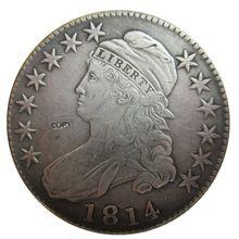 Дата 1814 1815 1817 1818 1819 1820 1821 1822 1823 США сборную бюст половиной долларов монеты КОПИЯ
