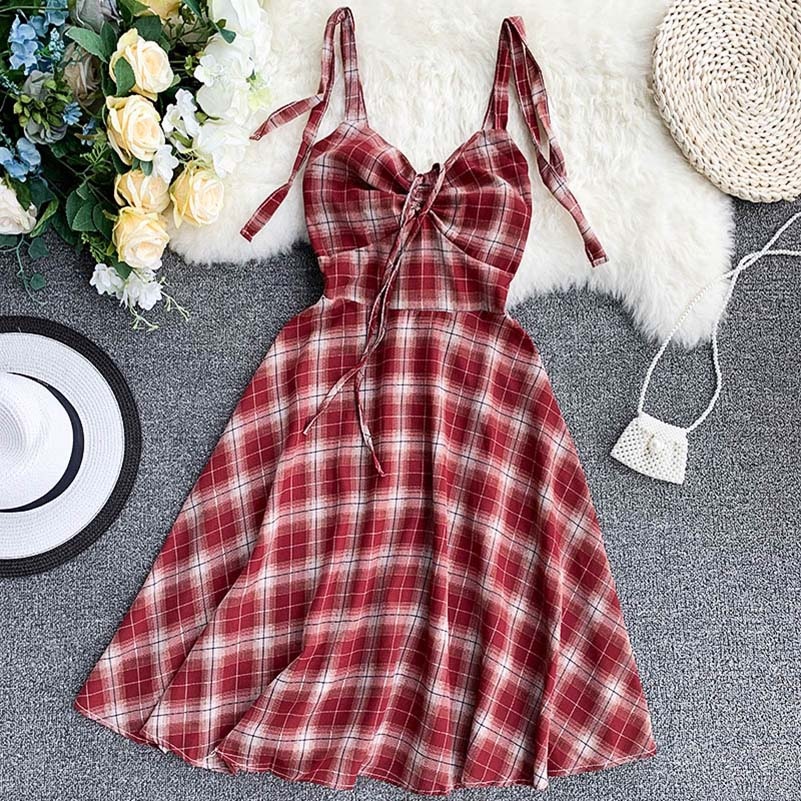 NiceMix Women Dress 2019 Summer Korean version fashion literary small fresh solid color Chiffon Dress belt Bow SlePurple Flower in Dresses from Women 39 s Clothing