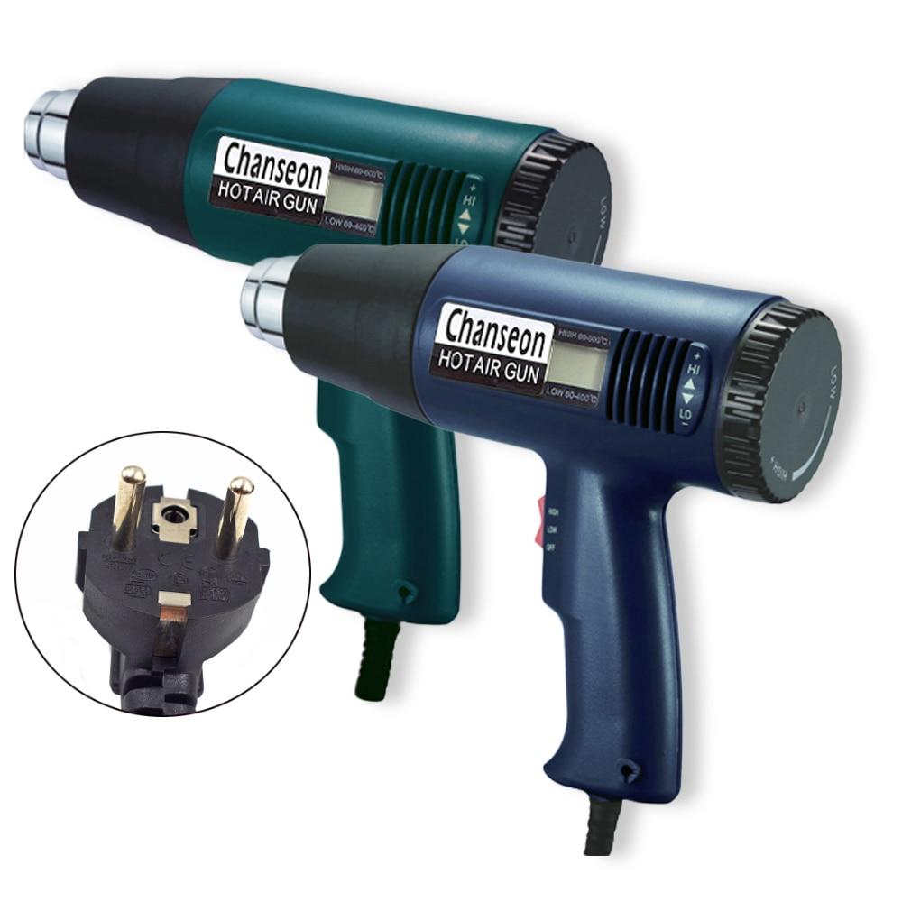 Termoregolatore LCD industriale elettrico pistola ad aria calda 1800W - Utensili elettrici - Fotografia 2