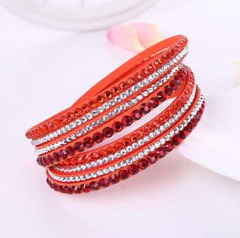 Crystal Multi-Layer Wrap Bracelets Bracelets Jewelry New Arrivals Women Jewelry Metal Color: orange
