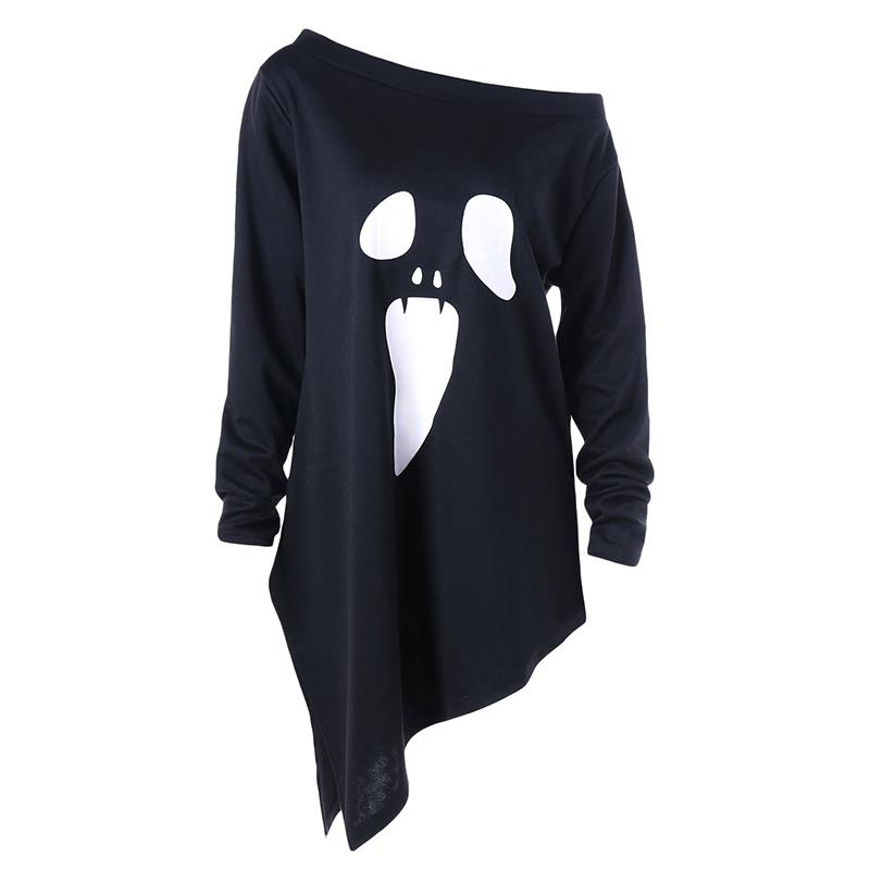 New Fashion T shirt Women Ghost Halloween Print T Shirt Women Tops Casual Punk Brand Tee