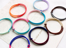 New arrival(10pcs) young girls candy color rubble women's hair bands gum headwear(China)