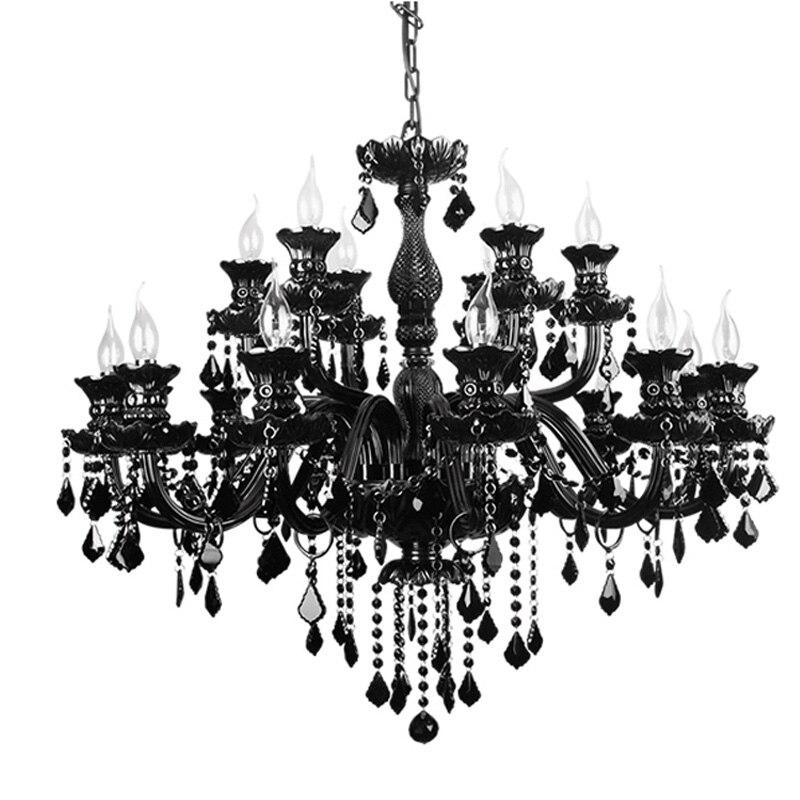 black crystal lighting. black chandelier light modern crystal lighting living room bedroom