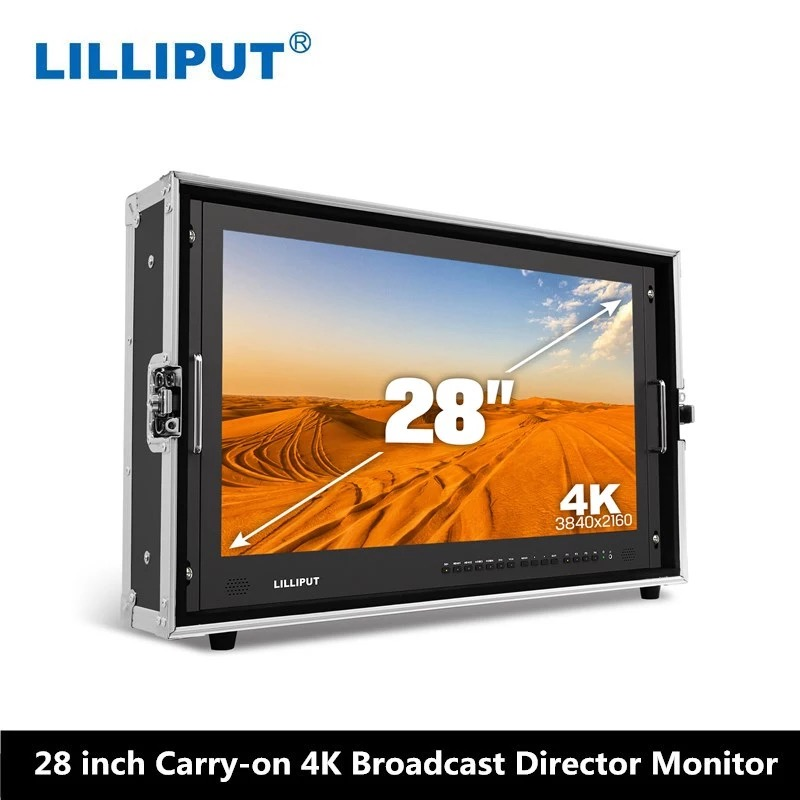 LILLIPUT BM280-4K 28 3840*2160 moniteur de diffusion 3G SDI 4 K Ultra HD moniteur SDI HDMI TALLY directeur moniteur