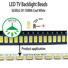100pcs/lot new led 5630lg 3v 150ma lamp beads cool white for repair led lcd tv backlight light bar chip hot 2pcs lot mst6m181vs lf z1 tv led lcd driver chip
