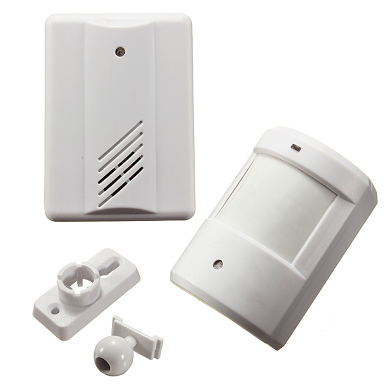 Digital Wireless Doorbell Driveway Garage Motion Sensor Alarm Infrared Wireless Alarm System With Mount Door Bell Dropship