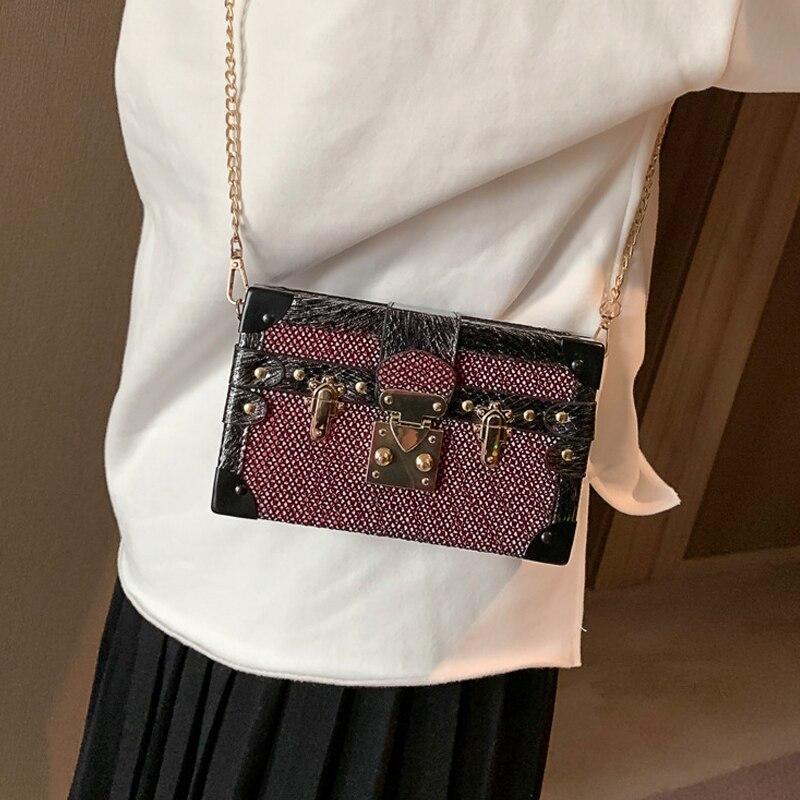 Brand Design Korean Vintage Shoulder Bag small Flap bag female 2019 new fashion Large capacity chain Crossbody Bag Messenger bag 3