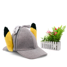 New Movie Detective Pikachu Cosplay Hat Animated Adult Costume Baseball Fashion Gift