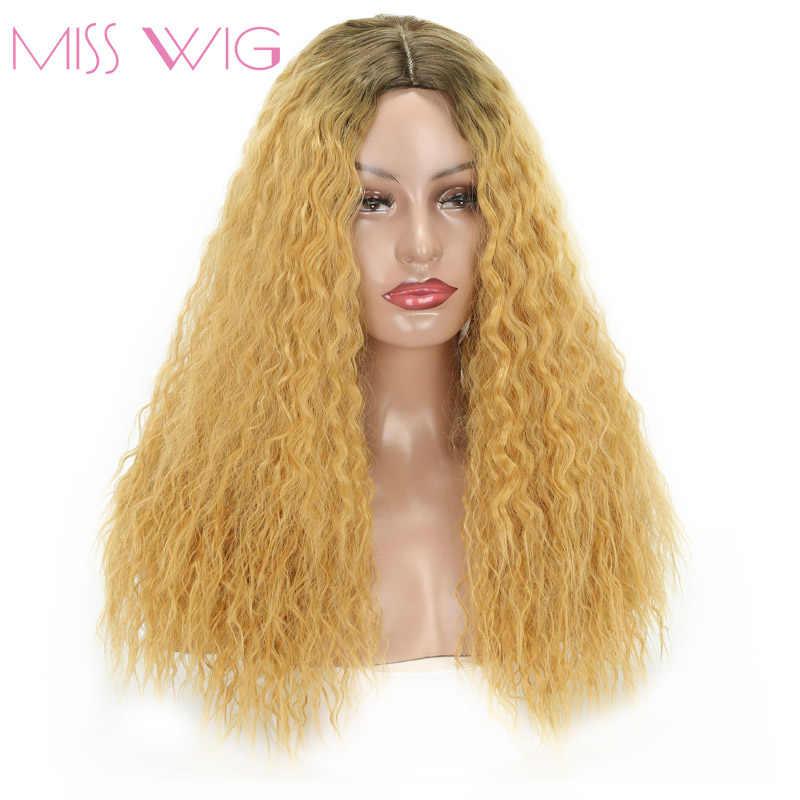 Miss Wig 20 дюймов длинный афро кудрявый парик синтетические волосы цвет парики для женщин африканская прическа натуральный термостойкий