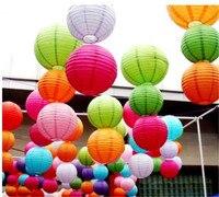 10 Stks 30 cm Ronde Chinese Papieren Lantaarn Verjaardag Lantaarns voor Wedding Party Decoratie Gift Ambachtelijke DIY Groothandel Retail