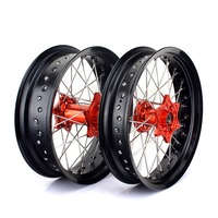 BIKINGBOY 17 3.5 5.0 Supermoto Front Rear Wheel Rim Hub for KTM SX 125 150 2013 2014 XC 150 12 14 SX SX F 250 13 14 XC250 12 14