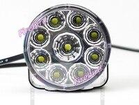 9 Вт светодиодные противотуманные фары DRL дневными ходовыми огнями, 7 см диаметр круглый piranha белый водонепроницаемый дальнего света, беспла...