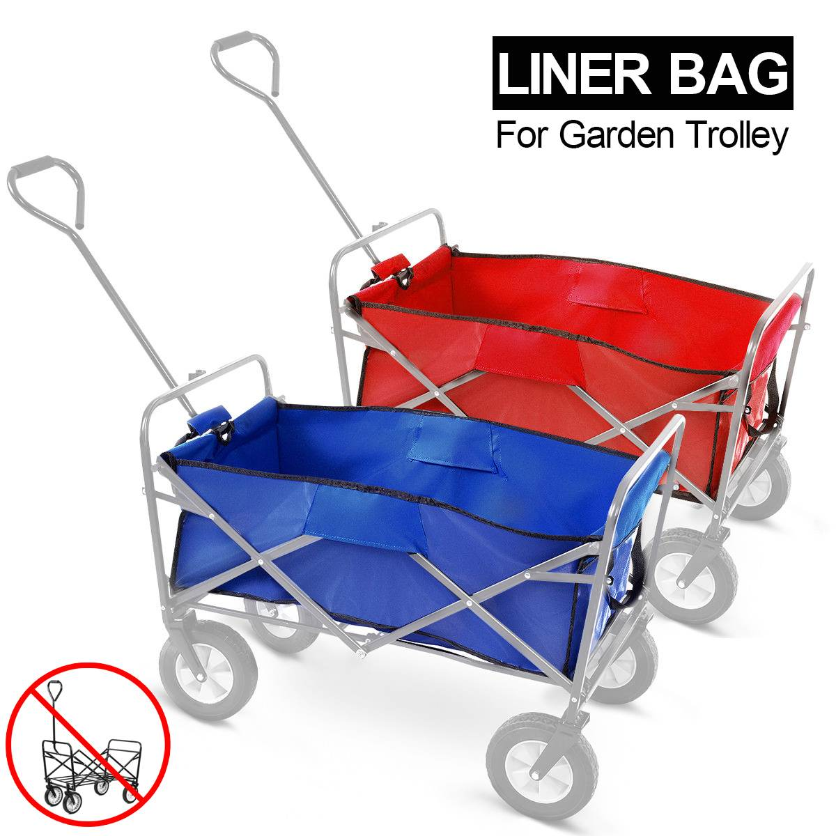 Portable Luggage Cart Bag 4 Wheel Heavy Duty Folding Bag Garden Trolley Cart Bag Bolderkar Wagon cart Only Bag Cart not includedPortable Luggage Cart Bag 4 Wheel Heavy Duty Folding Bag Garden Trolley Cart Bag Bolderkar Wagon cart Only Bag Cart not included