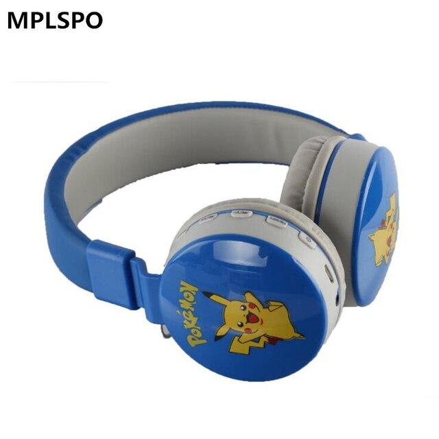 Mplsbo ms882 fones de ouvido sem fio, fones de ouvido esportivos com desenho animado para crianças, bluetooth, com microfone para todos os celulares