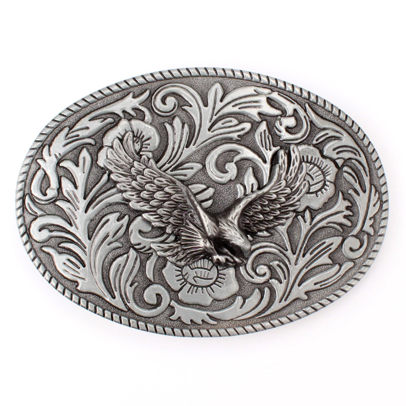Tang Grass Pattern Hawk Belt Buckle Belt Smooth Buckle Spot Wholesale