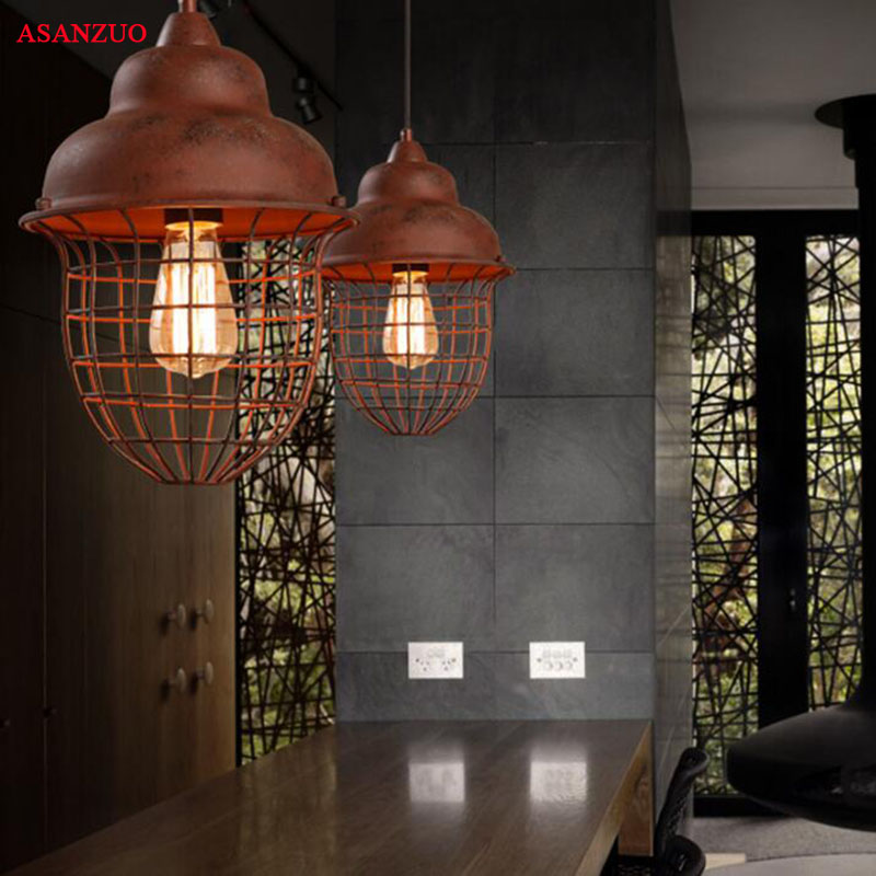 Industrial Retro single head Pendant Lights American village Do the old Hanging lights cafe bar shop iron Pendant Lamps ascelina american retro pendant lights industrial creative rustic style hanging lamps pendant lamp bar cafe restaurant iron e27