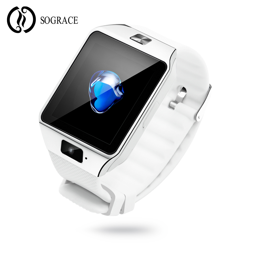 SOGRACE 2018 Bluetooth DZ09 Smart Uhr Relogio Android Smartwatch Telefon Telefon-anruf-sim TF Kamera für IOS iPhone Samsung VS GT08 Q18