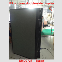 P5 outdoor double side waterproof display