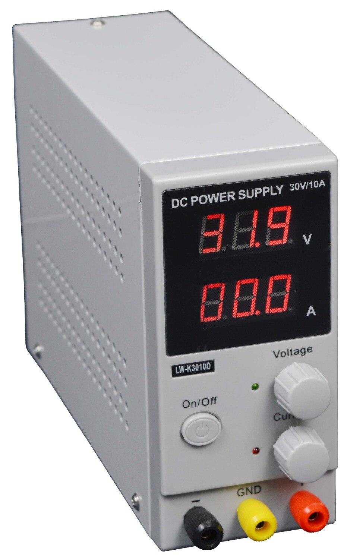 ФОТО 4PCS LW-3010D 110V 220V Mini Adjustable Digital DC power supply,0~30V 0~10A ,Switching Power supply, certification,US/EU/AU Plug