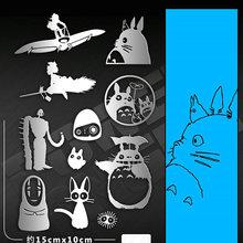 11pcs/set Classic My Neighbor Totoro Cartoon Stickers Metal For Phone Laptop Stiker Children DIY Toy Sticker