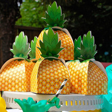 50 pieces of pineapple candy box party wedding packaging box decoration gift bag