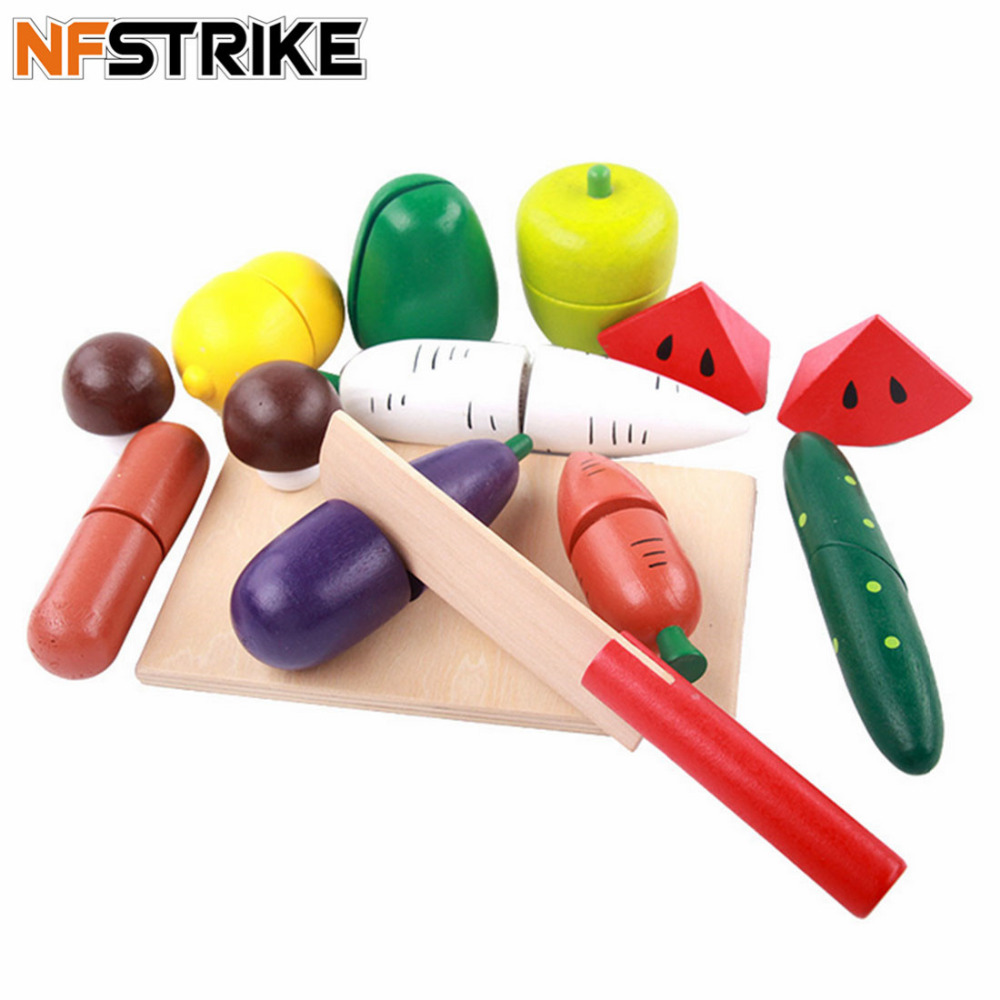 Wooden Fruit Vegetables Cutting Toy Early Development and Education Toy for Baby