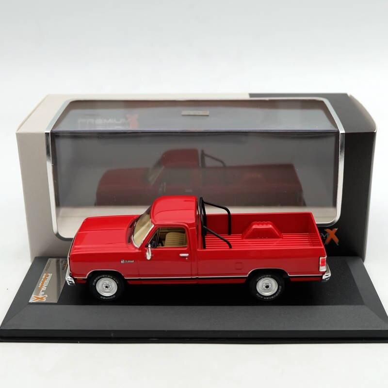 Premium X 1:43 Dodge Ram 1987 rouge PRD259 modèles de résine voiture édition limitée Auto Collection jouets