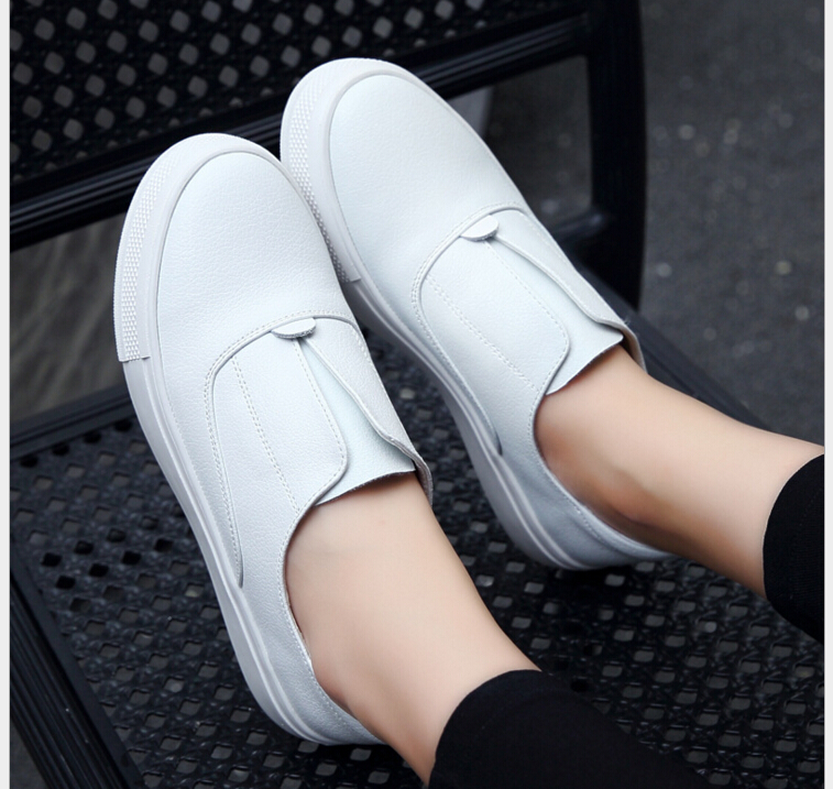 Spring Summer High Quality Women Genuine Leather Loafers Fashion Casual Flats Shoes Woman Slip On Female Shoes Moccasins slipony wolf who genuine leather women shoes ladies spring krasovki slipony slip on loafers woman tenis feminino casual h 049