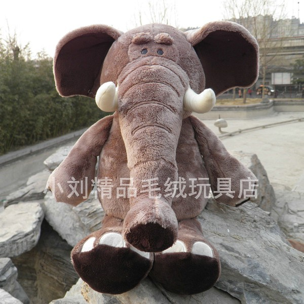 Stuffed jungle animal 80 cm jungle elephant plush toy soft cute doll gift w1427 plush toya elephant plush lion stuffed and soft animal toys