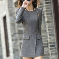 Hot 2016 Autumn Winter Women Woolen Coat Female Warm Wool Long Sleeve Overcoat Jacket Fashion