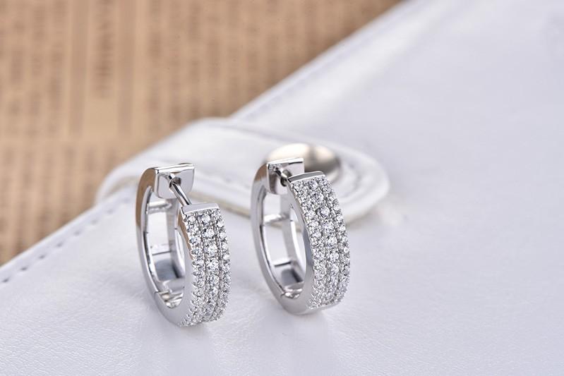 925 sterling earrings hoops for women DE06900A (5)